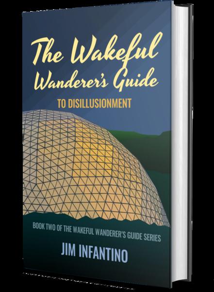 3d mockup of the wakeful wanderer 2 book