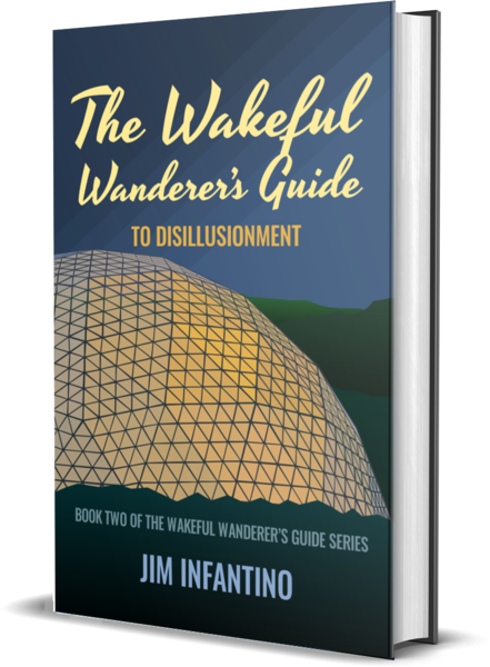 mockup of cover of Wakeful Wanderer 2 hardcover edition